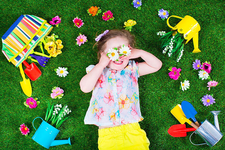 Spring lawn care tips - get the kids to do it!
