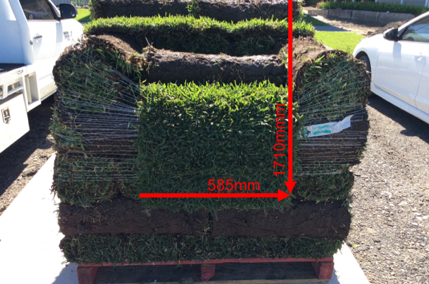 Size of our turf rolls