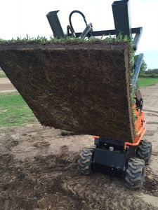 Green Life Turfs patented Bullseye Instant Grass turf farmed with thick organic soil + fully established turf