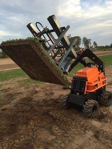 Green Life Turfs patented Bullseye Instant Grass turf farming machinery