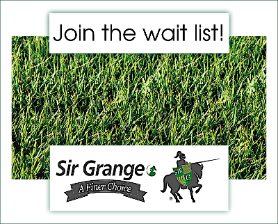 Sir Grange Zoysia - when is Sir Grange available? Get on the wait list